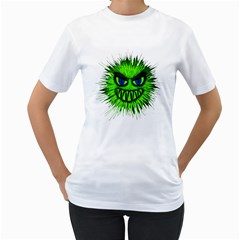 Monster Green Evil Common Women s T Shirt (white)