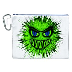 Monster Green Evil Common Canvas Cosmetic Bag (xxl) by Nexatart