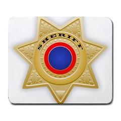 Sheriff S Star Sheriff Star Chief Large Mousepads by Nexatart