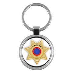 Sheriff S Star Sheriff Star Chief Key Chains (round)  by Nexatart