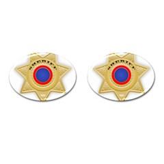 Sheriff S Star Sheriff Star Chief Cufflinks (oval) by Nexatart