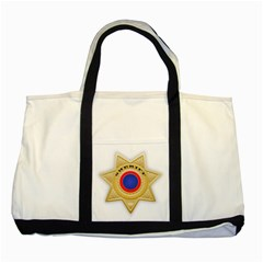 Sheriff S Star Sheriff Star Chief Two Tone Tote Bag by Nexatart