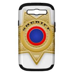 Sheriff S Star Sheriff Star Chief Samsung Galaxy S Iii Hardshell Case (pc+silicone)
