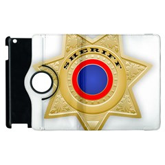 Sheriff S Star Sheriff Star Chief Apple Ipad 3/4 Flip 360 Case by Nexatart