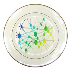 Network Connection Structure Knot Porcelain Plates by Nexatart