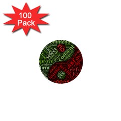 Tao Duality Binary Opposites 1  Mini Buttons (100 Pack)