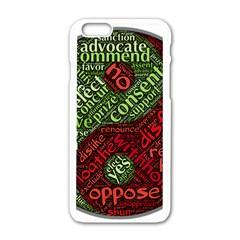 Tao Duality Binary Opposites Apple iPhone 6/6S White Enamel Case