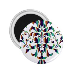 Damask Decorative Ornamental 2 25  Magnets by Nexatart
