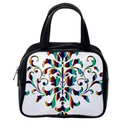 Damask Decorative Ornamental Classic Handbags (one Side) by Nexatart