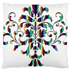 Damask Decorative Ornamental Large Cushion Case (two Sides)