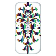 Damask Decorative Ornamental Samsung Galaxy S3 S Iii Classic Hardshell Back Case by Nexatart