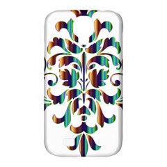 Damask Decorative Ornamental Samsung Galaxy S4 Classic Hardshell Case (pc+silicone)