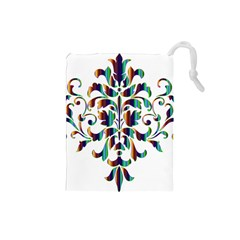 Damask Decorative Ornamental Drawstring Pouches (small)