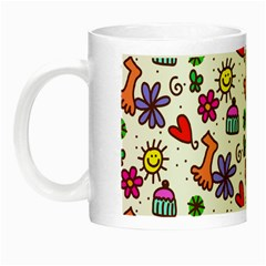 Doodle Pattern Night Luminous Mugs