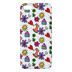 Doodle Pattern Apple Iphone 5 Premium Hardshell Case
