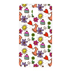 Doodle Pattern Samsung Galaxy Note 3 N9005 Hardshell Back Case