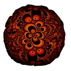 Fractals Ball About Abstract Large 18  Premium Round Cushions by Nexatart