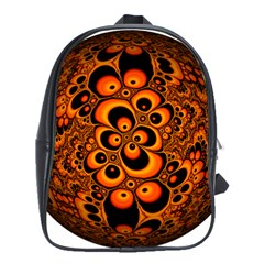 Fractals Ball About Abstract School Bags (XL)  by Nexatart