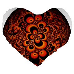 Fractals Ball About Abstract Large 19  Premium Flano Heart Shape Cushions