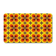 Seventies Hippie Psychedelic Circle Magnet (rectangular) by Nexatart