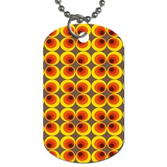 Seventies Hippie Psychedelic Circle Dog Tag (two Sides) by Nexatart