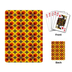 Seventies Hippie Psychedelic Circle Playing Card by Nexatart