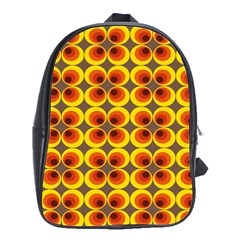 Seventies Hippie Psychedelic Circle School Bags(large)  by Nexatart
