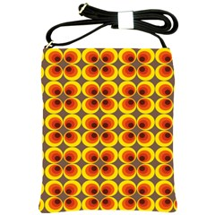 Seventies Hippie Psychedelic Circle Shoulder Sling Bags by Nexatart