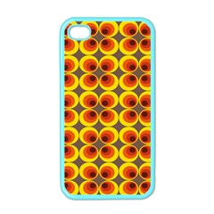 Seventies Hippie Psychedelic Circle Apple Iphone 4 Case (color) by Nexatart