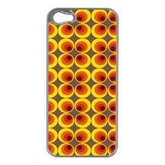 Seventies Hippie Psychedelic Circle Apple iPhone 5 Case (Silver)