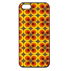 Seventies Hippie Psychedelic Circle Apple Iphone 5 Seamless Case (black) by Nexatart