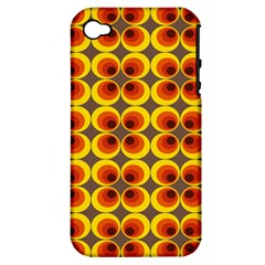 Seventies Hippie Psychedelic Circle Apple Iphone 4/4s Hardshell Case (pc+silicone)