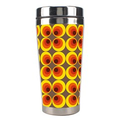 Seventies Hippie Psychedelic Circle Stainless Steel Travel Tumblers