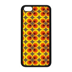 Seventies Hippie Psychedelic Circle Apple Iphone 5c Seamless Case (black) by Nexatart