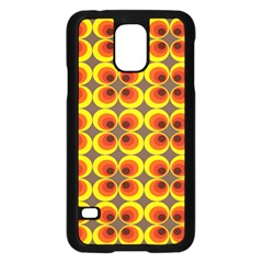 Seventies Hippie Psychedelic Circle Samsung Galaxy S5 Case (black)