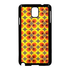Seventies Hippie Psychedelic Circle Samsung Galaxy Note 3 Neo Hardshell Case (black) by Nexatart