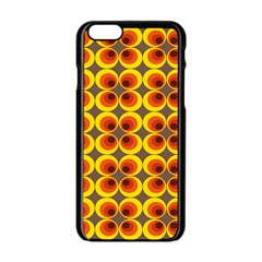 Seventies Hippie Psychedelic Circle Apple Iphone 6/6s Black Enamel Case by Nexatart