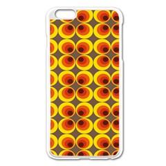 Seventies Hippie Psychedelic Circle Apple Iphone 6 Plus/6s Plus Enamel White Case by Nexatart