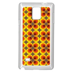 Seventies Hippie Psychedelic Circle Samsung Galaxy Note 4 Case (white) by Nexatart