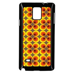 Seventies Hippie Psychedelic Circle Samsung Galaxy Note 4 Case (black) by Nexatart
