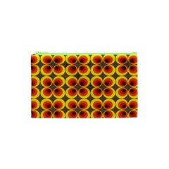 Seventies Hippie Psychedelic Circle Cosmetic Bag (xs) by Nexatart