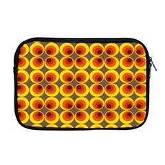 Seventies Hippie Psychedelic Circle Apple Macbook Pro 17  Zipper Case by Nexatart