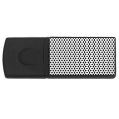 Diamond Black White Shape Abstract Usb Flash Drive Rectangular (4 Gb)