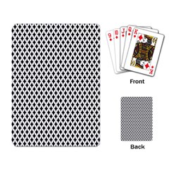Diamond Black White Shape Abstract Playing Card