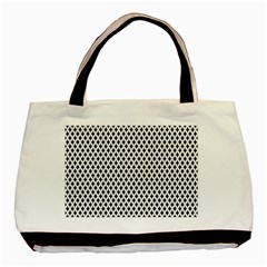 Diamond Black White Shape Abstract Basic Tote Bag