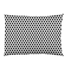 Diamond Black White Shape Abstract Pillow Case by Nexatart