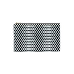 Diamond Black White Shape Abstract Cosmetic Bag (small)  by Nexatart