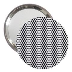 Diamond Black White Shape Abstract 3  Handbag Mirrors by Nexatart