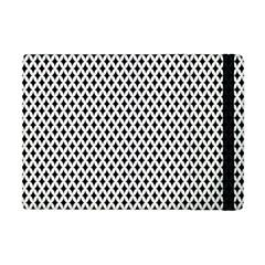 Diamond Black White Shape Abstract Apple Ipad Mini Flip Case