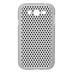 Diamond Black White Shape Abstract Samsung Galaxy Grand Duos I9082 Case (white)